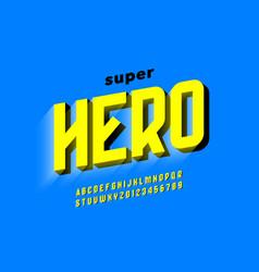 Comics style font design superhero alphabet vector