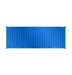 container blue vector image