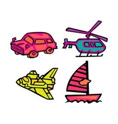 Cute Transportation Pack vector