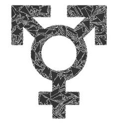 Detritus mosaic polyandry sex symbol icon vector