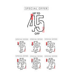 Discount up to 45 off special offer template vector