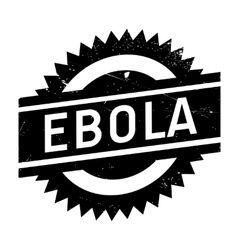 Ebola rubber stamp vector