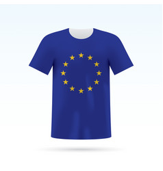 European union flag t-shirt vector