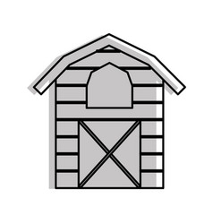 Farm stable building icon vector