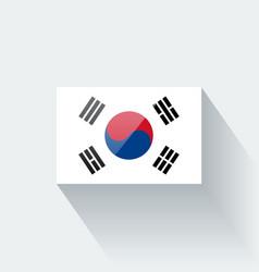 flag south korea vector image
