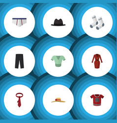 Flat icon clothes set of clothes pants casual vector