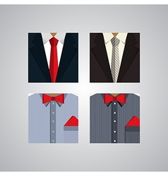 Flat icons for formal wear vector
