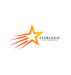 flying star logo design template icon vector image