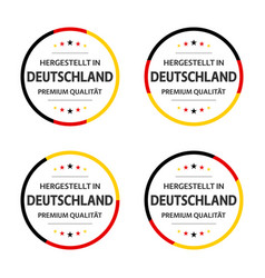 four german labels german title made in germany vector image