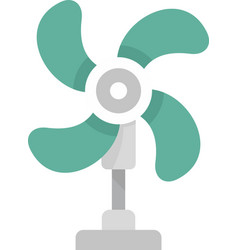 fresh air fan icon flat isolated vector image