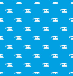 fret saw pattern seamless blue vector image
