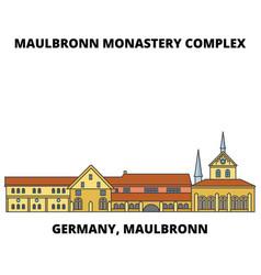 Germany maulbronn maulbronn monastery complex vector