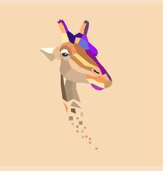 Giraffe s head vector