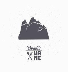 Hand drawn silhouette of mountains vector