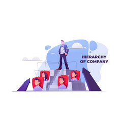 hierarchy company career pyramid vector image