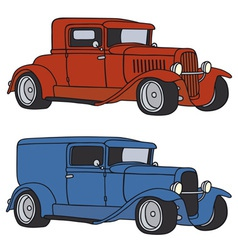 Hot rods vector image