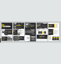 Landing page design from website template vector