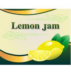 lemon jam label design template vector image