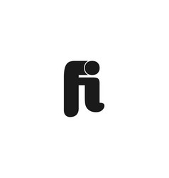 letter f i logo designs inspiration isolated on vector image