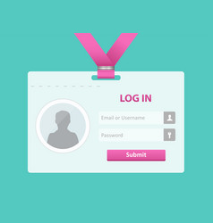 login user interface vector image