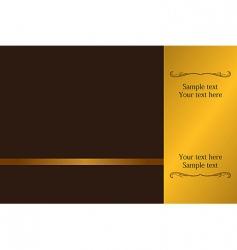 Luxury card or invitation vector
