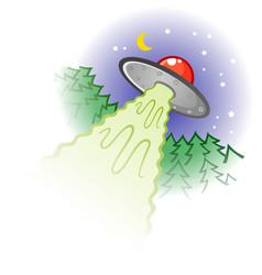 Lying saucer cartoon vector