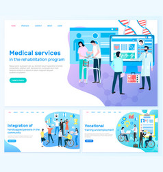 medical services rehabilitation program disabled vector image