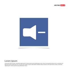 mute volume icon - blue photo frame vector image