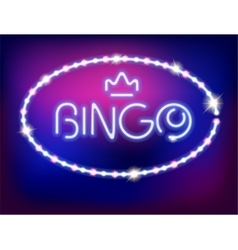 Neon Light Bingo Isolated vector