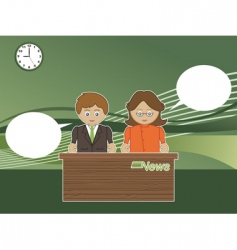 news readers vector image
