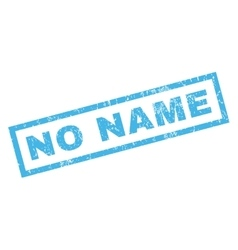 No Name Rubber Stamp vector