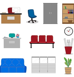 Office furnitures vector image