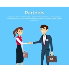 Partners Concept in Flat Design vector image