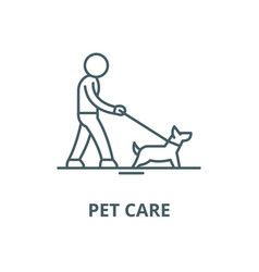 pet care line icon linear concept outline vector image