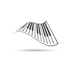 piano keyboards logo eps vector image