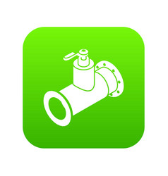 Pipe water icon green vector