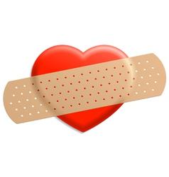 plaster on heart vector image
