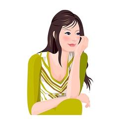 Portrait woman vector