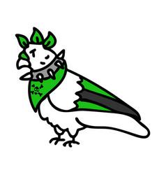 Punk rock pigeon clipart vector