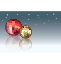 Red and yellow Christmas Balls vector image