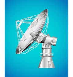 Satellite base with dish vector image