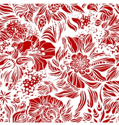 Seamless background with swirls vector