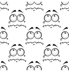 Seamless pattern with crying comics faces vector
