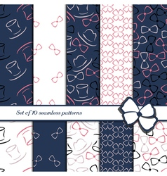 Set of 10 seamless patterns vector image