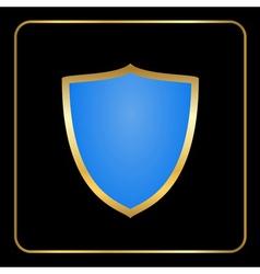 Shield gold icon black vector image vector image