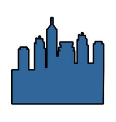 silhouette of urban city icon vector image