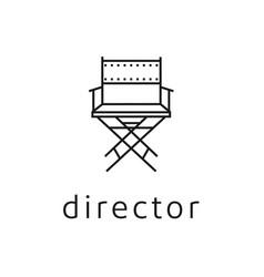 simple minimalist line art movie film director vector image