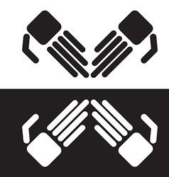 Simple robot hands vector