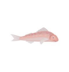 Small sea fish marine animal seafood theme flat vector