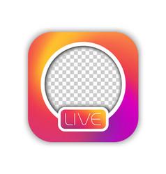 social media live video streaming icon mockup vector image